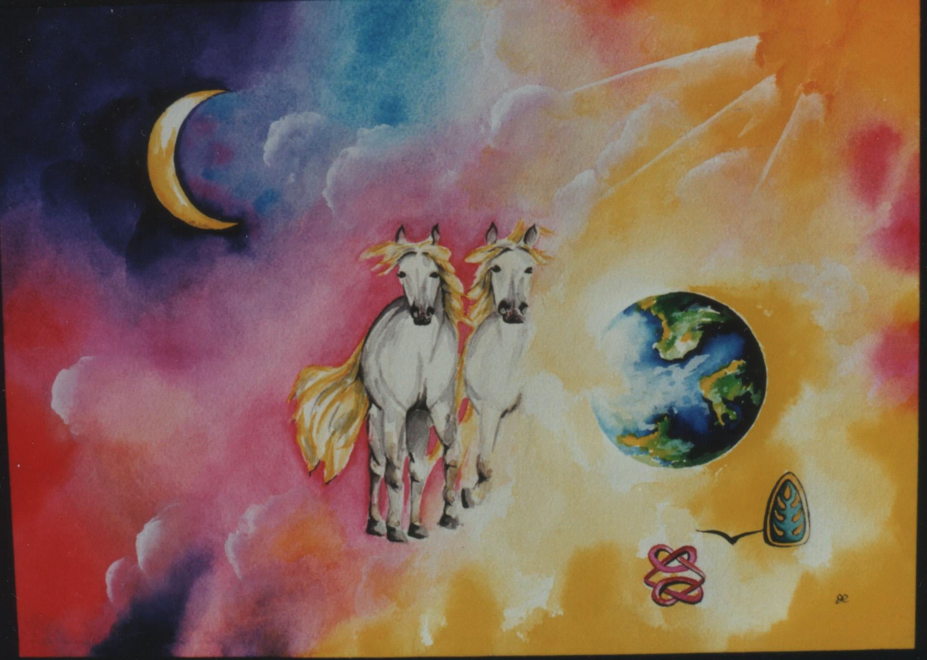 Horses by visionary artist Madeleine Tuttle