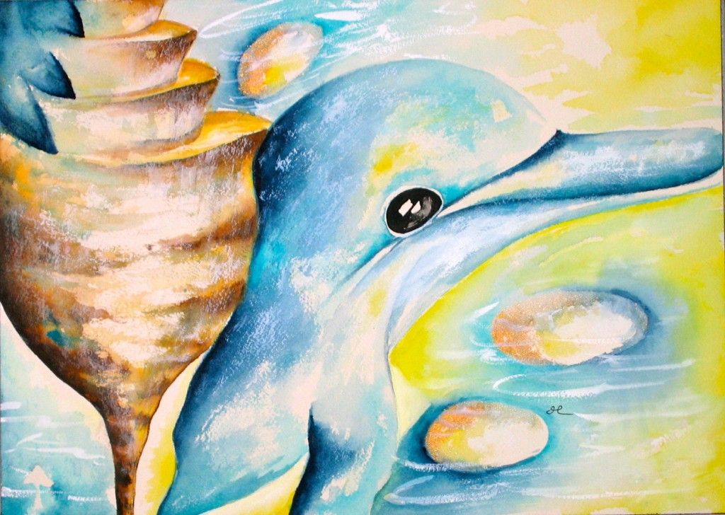 Dolphin by visionary artist Madeleine Tuttle