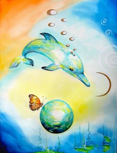 Dolphin3 by visionary artist Madeleine Tuttle