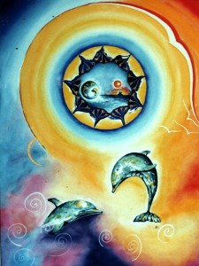 Dolphin8 by visionary artist Madeleine Tuttle