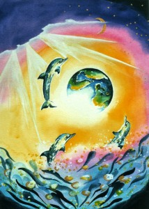Dolphin9 by visionary artist Madeleine Tuttle