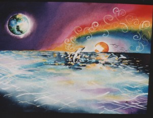 Dolphins by visionary artist Madeleine Tuttle