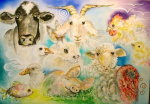 Farm Animals by artist Madeleine Tuttle