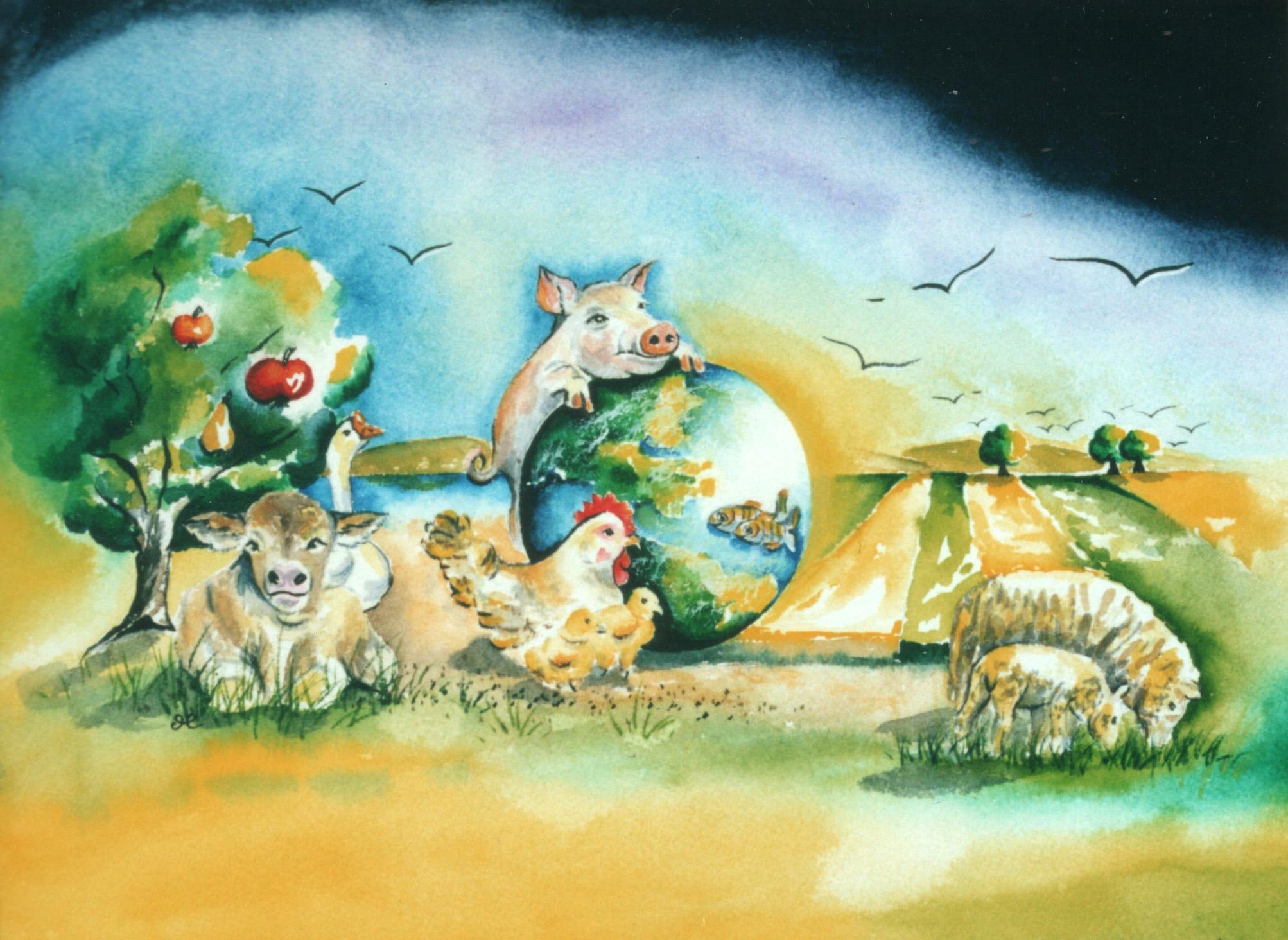 Farm Animals by visionary artist Madeleine Tuttle