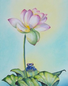 Frog by artist Madeleine Tuttle
