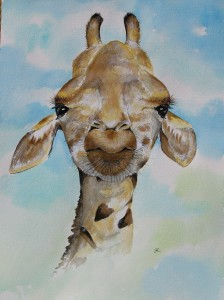 Giraffe by artist Madeleine Tuttle