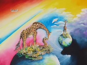 Giraffes by visionary artist Madeleine Tuttle
