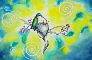 Hummingbird4 by visionary artist Madeleine Tuttle