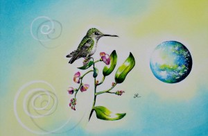 Hummingbird by artist Madeleine Tuttle