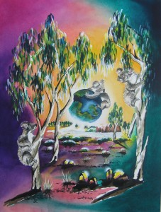 Koalas by visionary artist Madeleine Tuttle