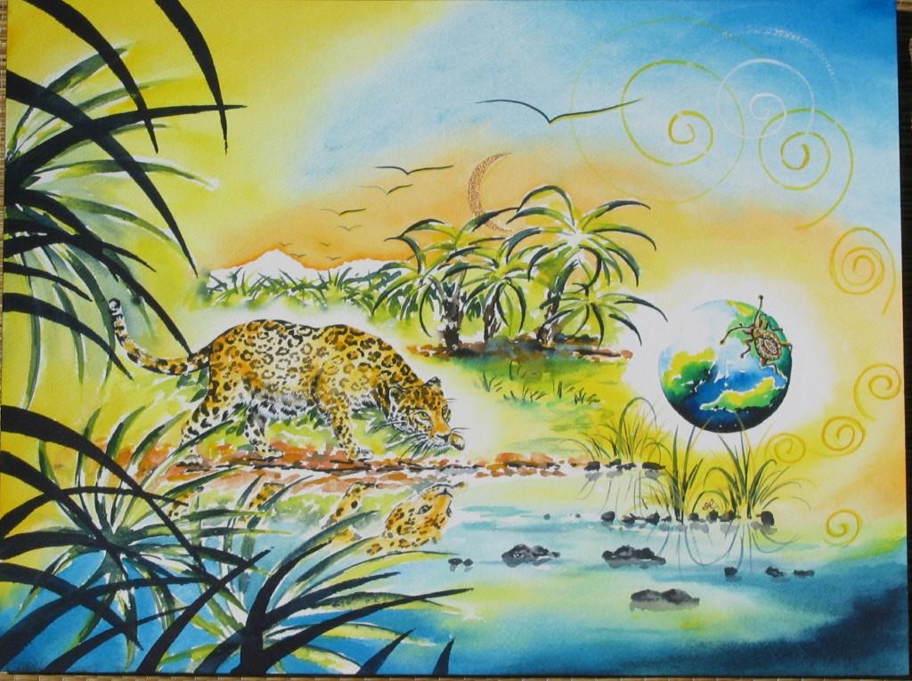 Leopard by visionary artist Madeleine Tuttle