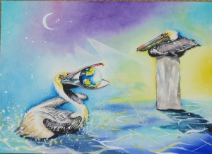 Pelican by visionary artist Madeleine Tuttle