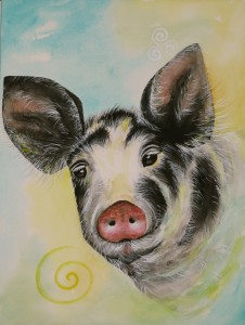 Pig by visionary artist Madeleine Tuttle