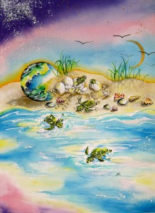 Turtles by visionary artist Madeleine Tuttle
