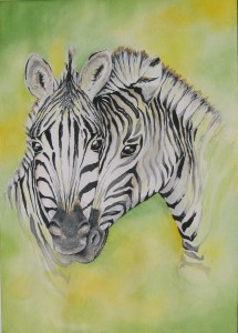 Zebras by visionary artist Madeleine Tuttle