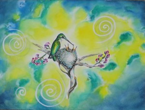 Hummingbird by visionary artist Madeleine Tuttle