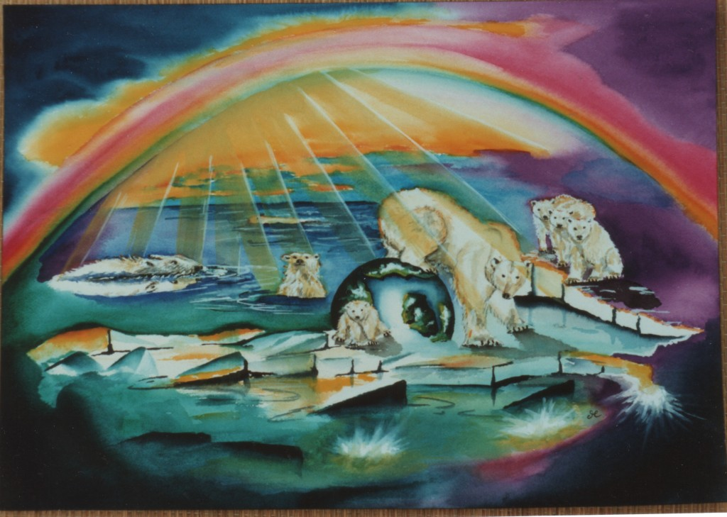 icebears by visionary artist Madeleine Tuttle