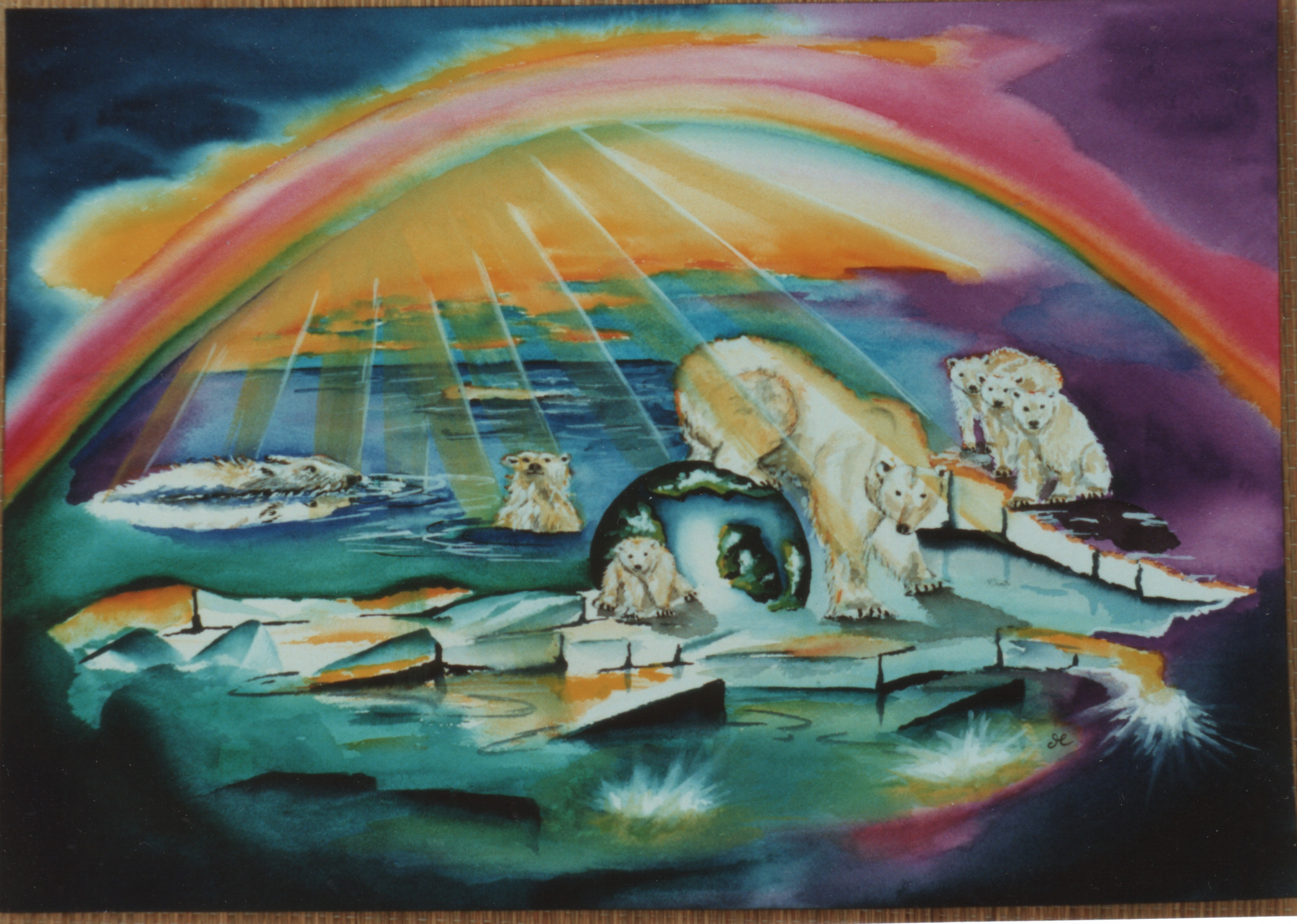 icebears by visionary artist Madeleine Tuttle