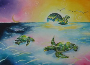 Turtles by artist MadeleineTuttle