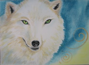 Wolf by visionary artist Madeleine Tuttle