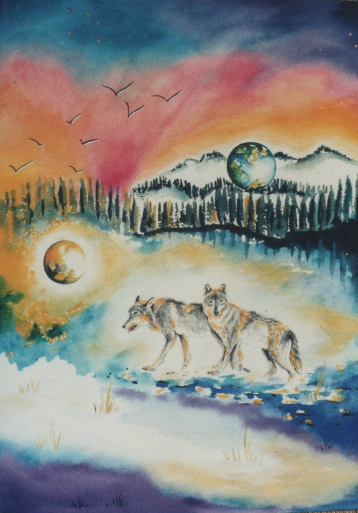 Wolves by artist Madeleine Tuttle